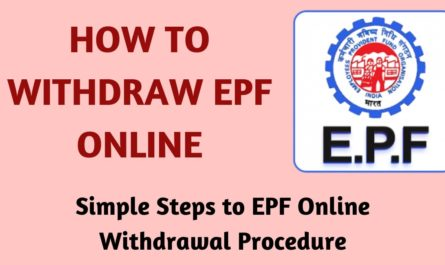 withdraw pf online